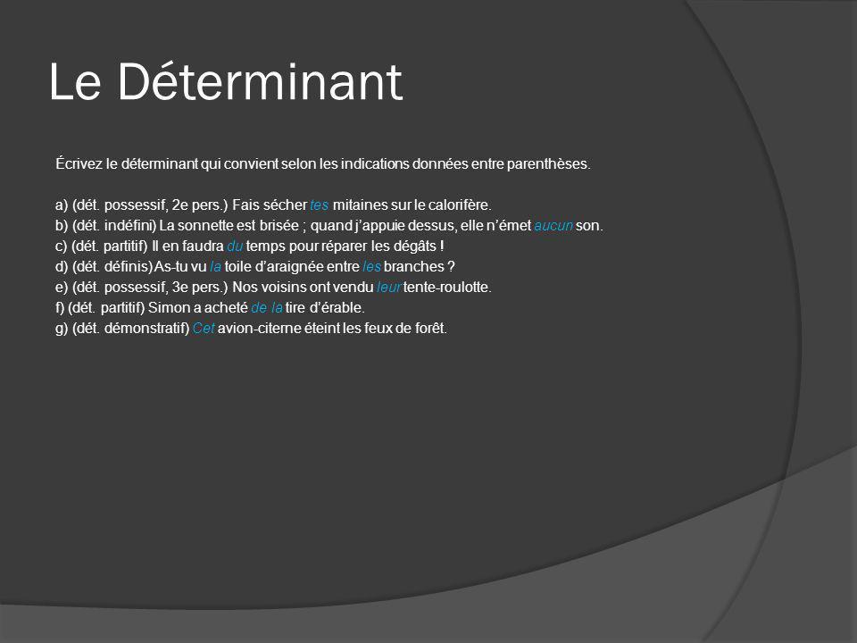 Le Déterminant