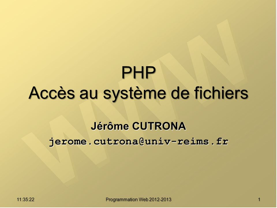 PHP Accès au système de fichiers