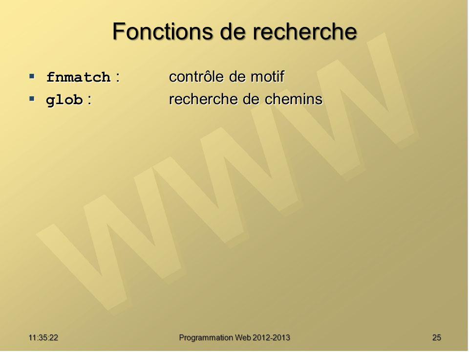 Fonctions de recherche