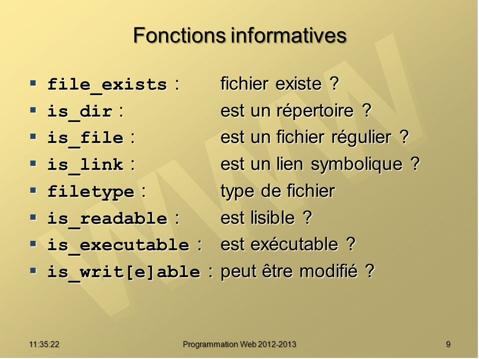 Fonctions informatives