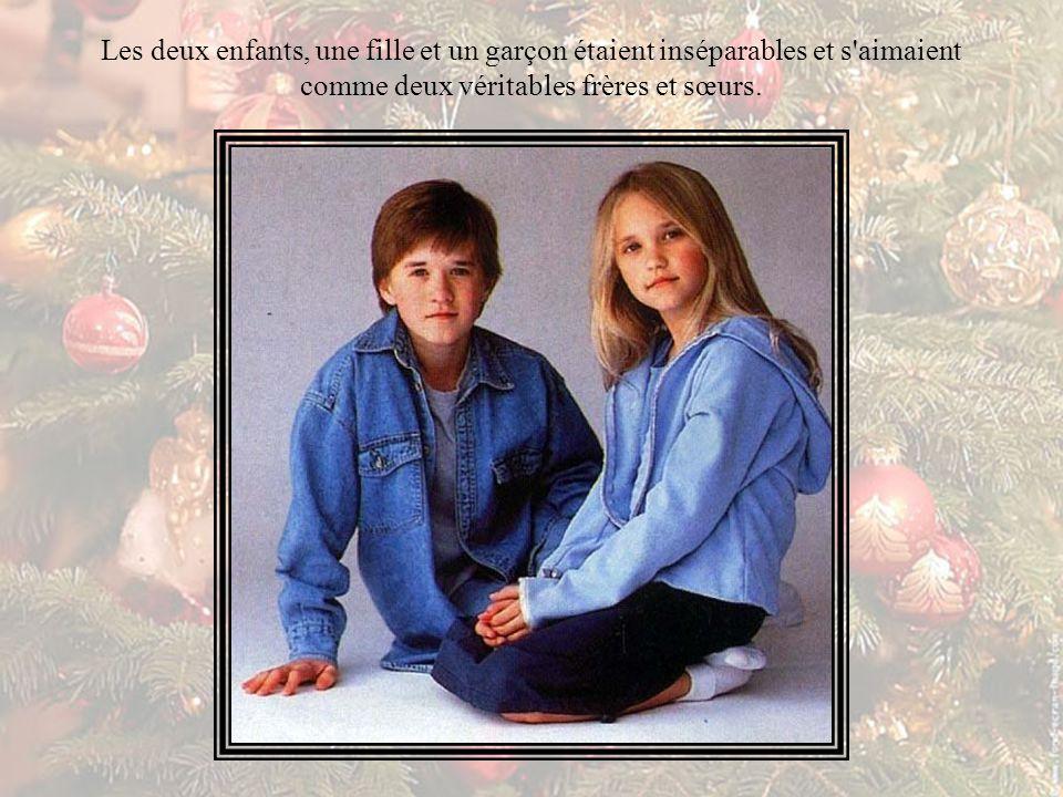 Les deux enfants, une fille et un garçon étaient inséparables et s aimaient comme deux véritables frères et sœurs.