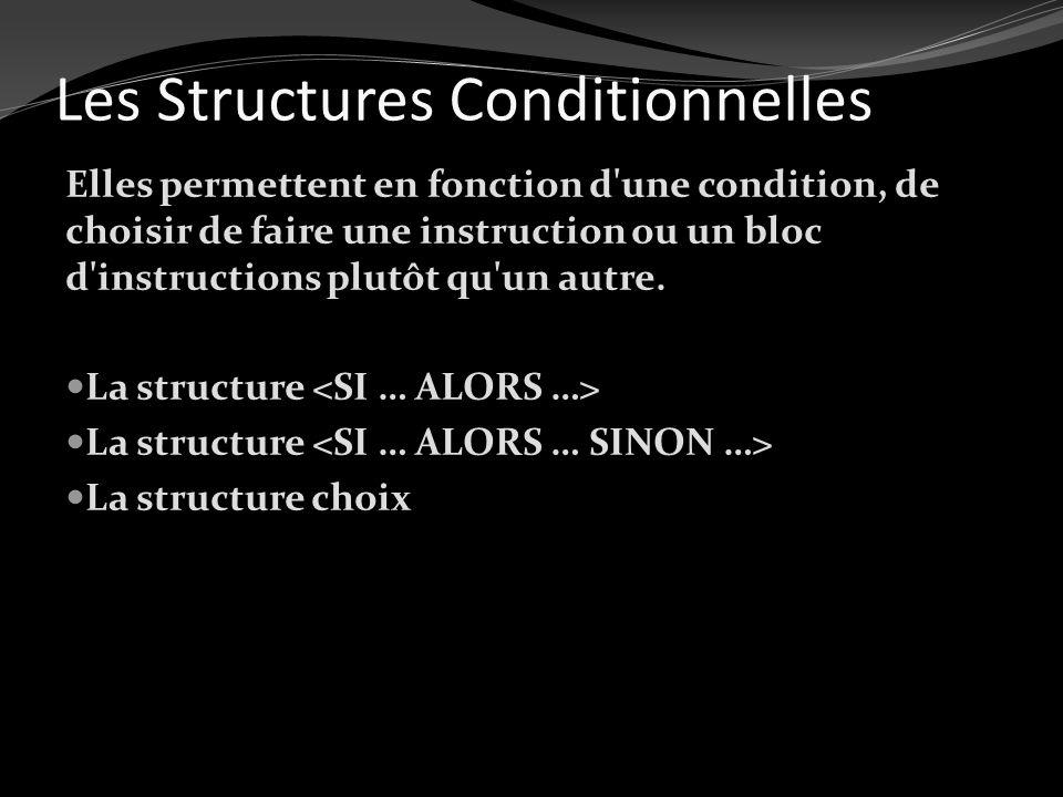 Les Structures Conditionnelles