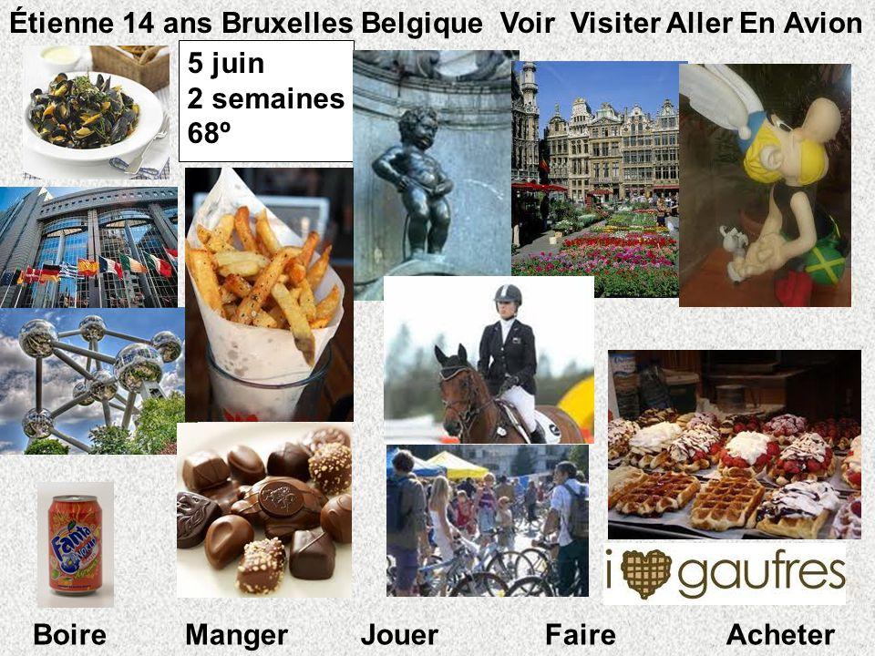 Étienne 14 ans Bruxelles Belgique Voir Visiter Aller En Avion 5 juin