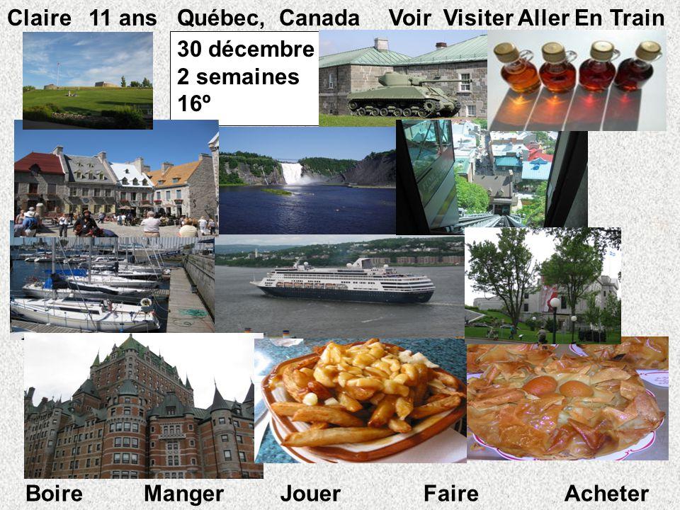 Claire 11 ans Québec, Canada Voir Visiter Aller En Train 30 décembre