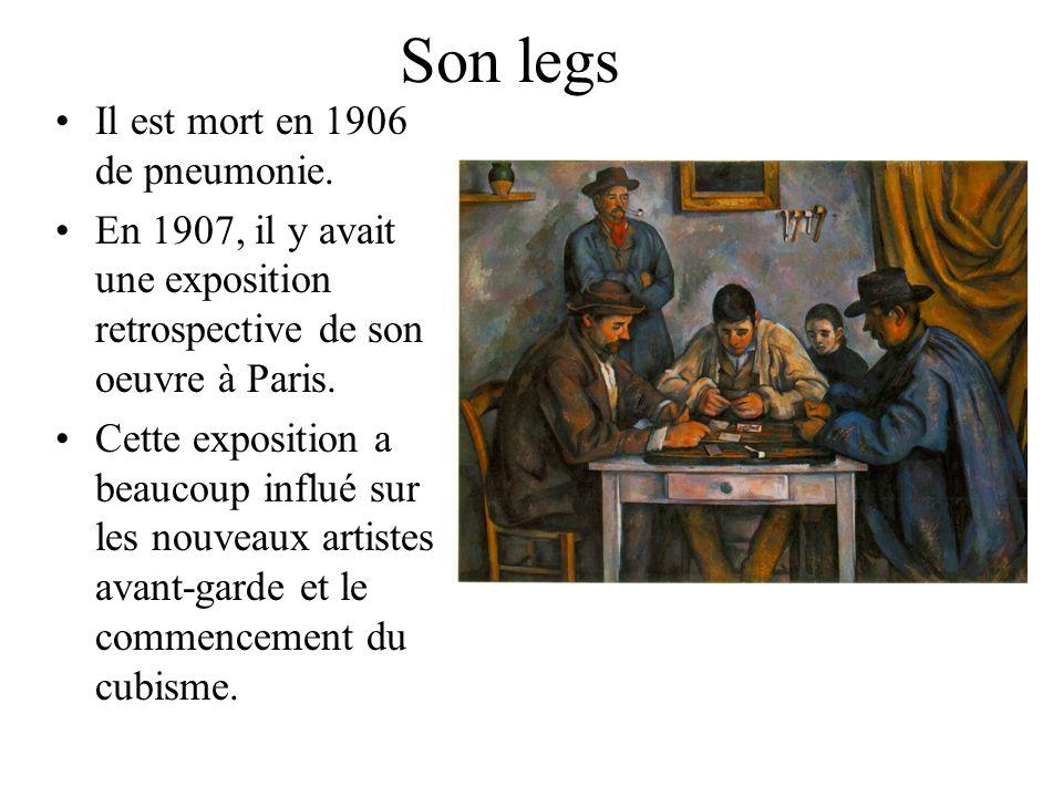 Son legs Il est mort en 1906 de pneumonie.