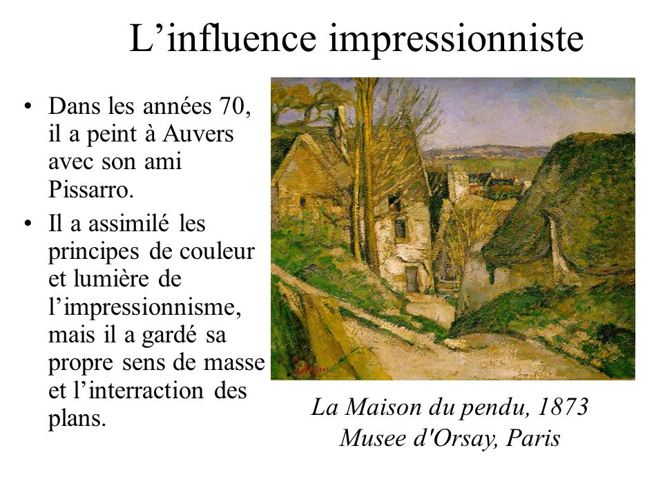 L'influence impressionniste