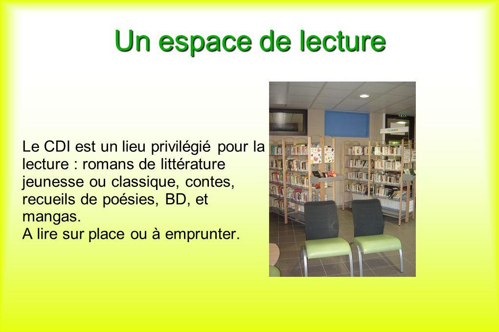 Un espace de lecture