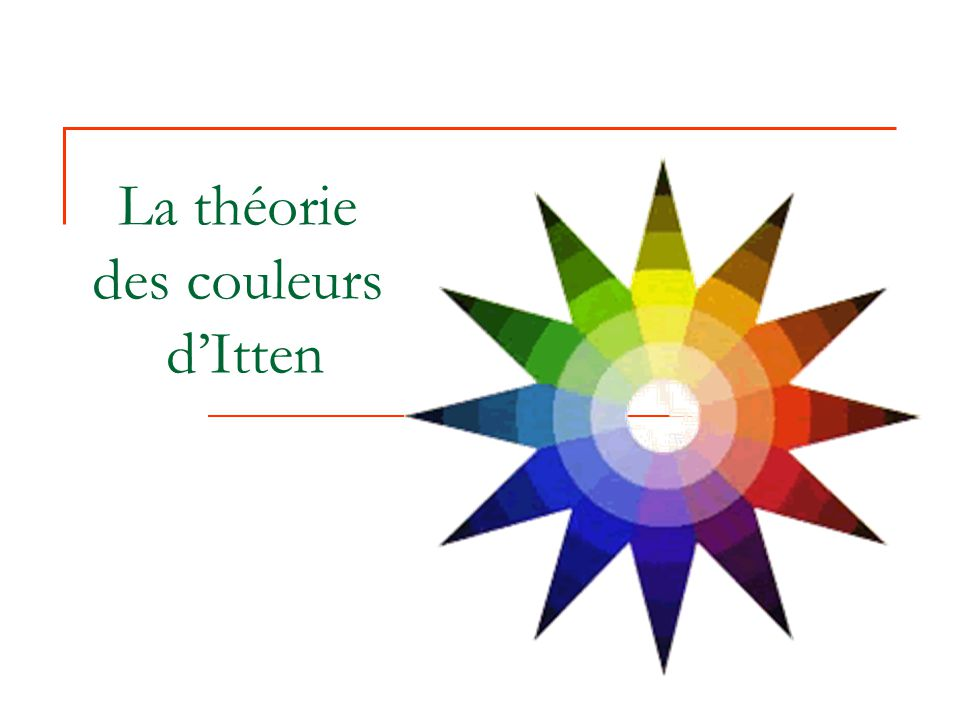 La théorie des couleurs d'Itten