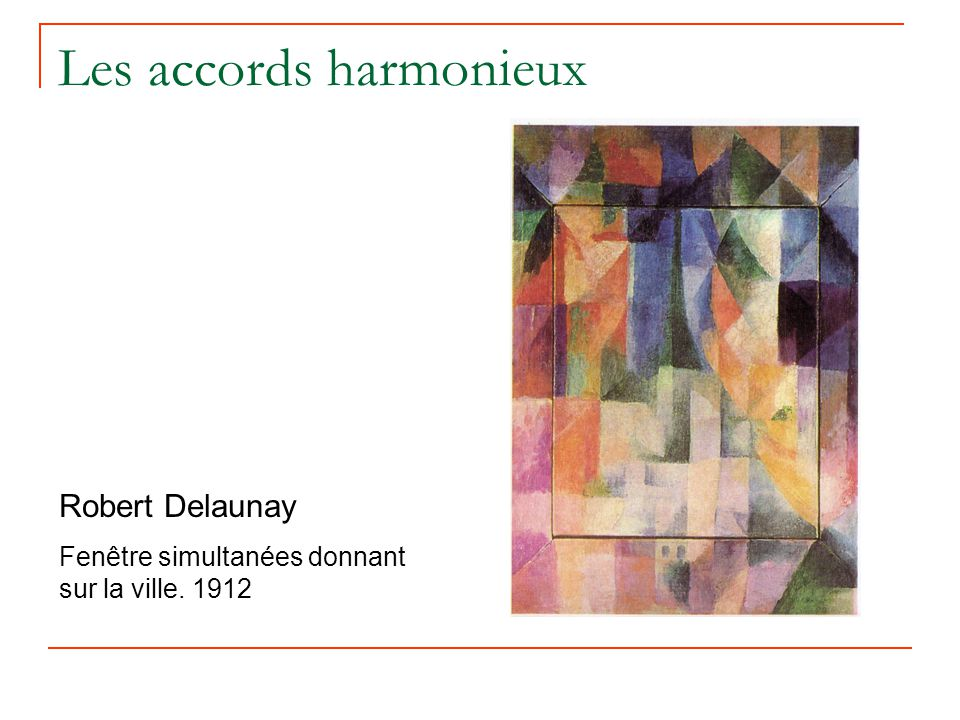 Les accords harmonieux