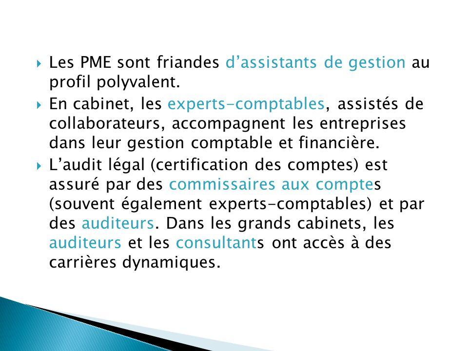 Les PME sont friandes d'assistants de gestion au profil polyvalent.