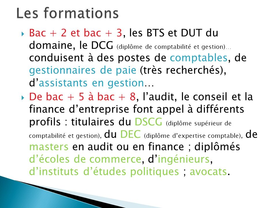 Les formations