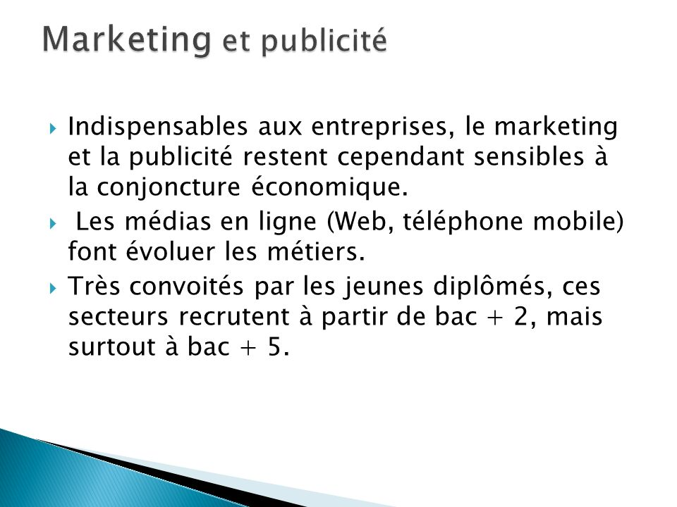 Marketing et publicité