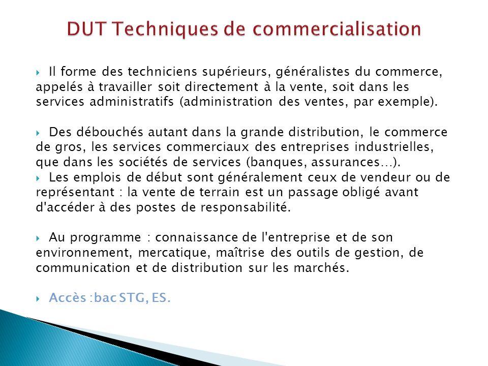 DUT Techniques de commercialisation