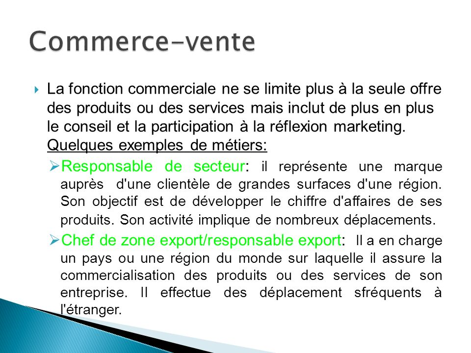 Commerce-vente