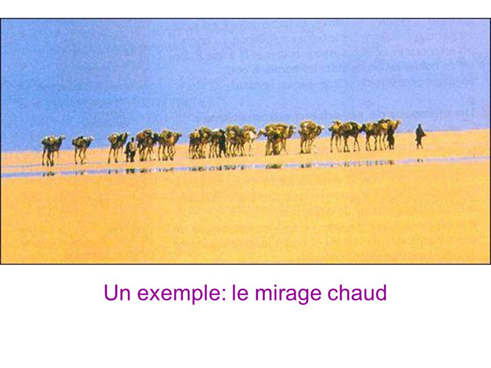 Un exemple: le mirage chaud