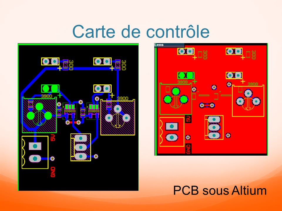 Carte de contrôle PCB sous Altium
