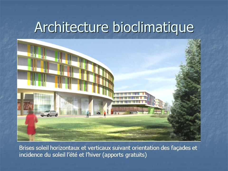 Architecture bioclimatique