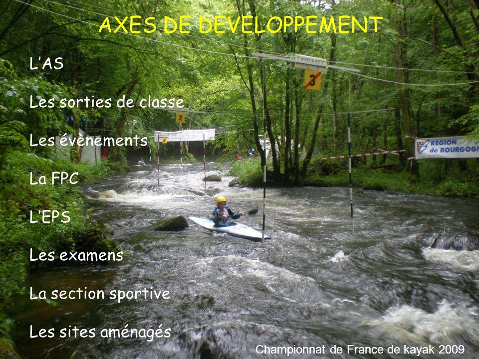 AXES DE DEVELOPPEMENT L'AS Les sorties de classe Les évènements La FPC