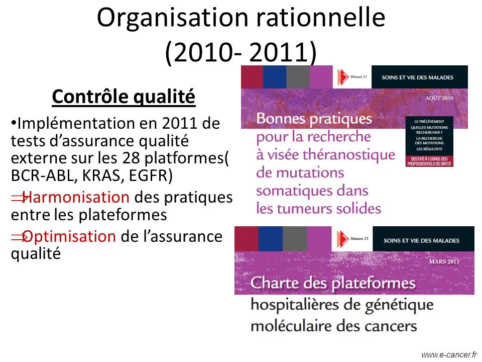 Organisation rationnelle (2010- 2011)