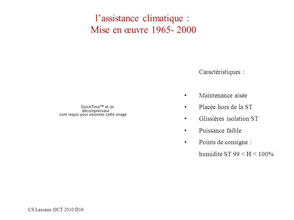 l'assistance climatique : Mise en œuvre 1965- 2000