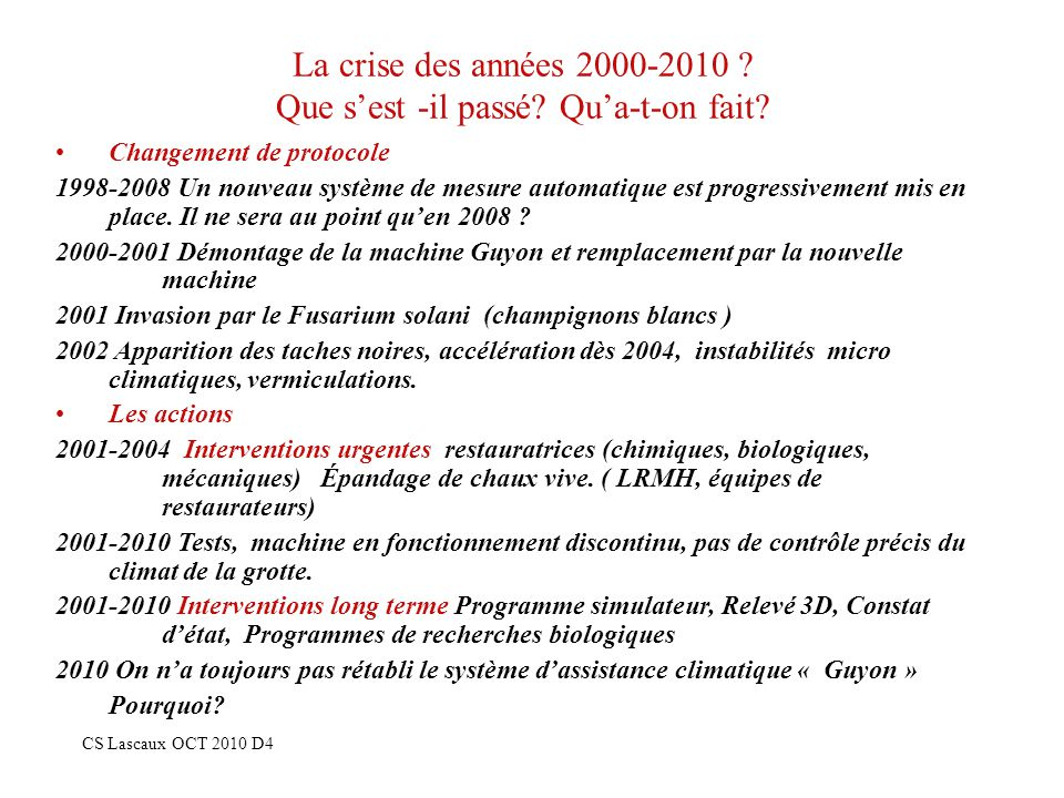 La crise des années 2000-2010 Que s'est -il passé Qu'a-t-on fait