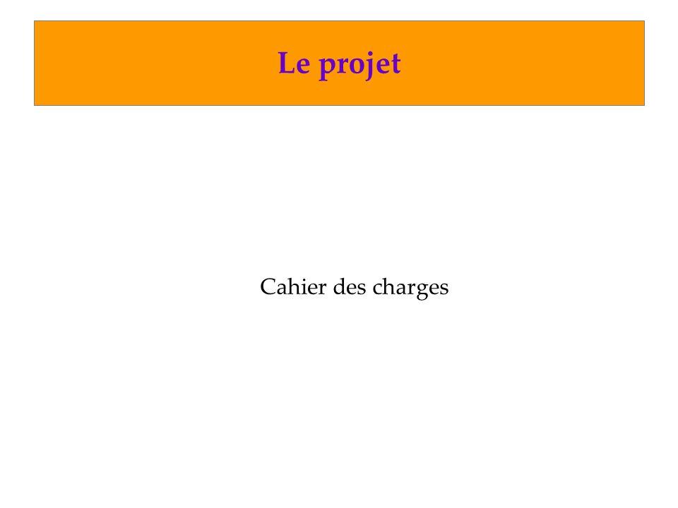Le projet Cahier des charges