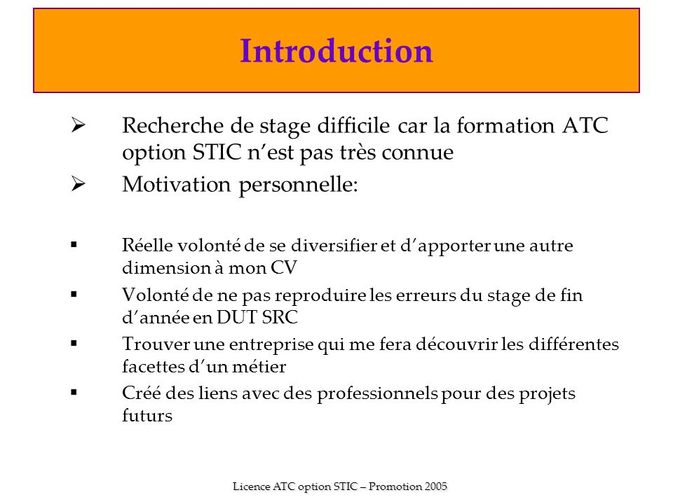 soutenance de stage effectu u00e9e par