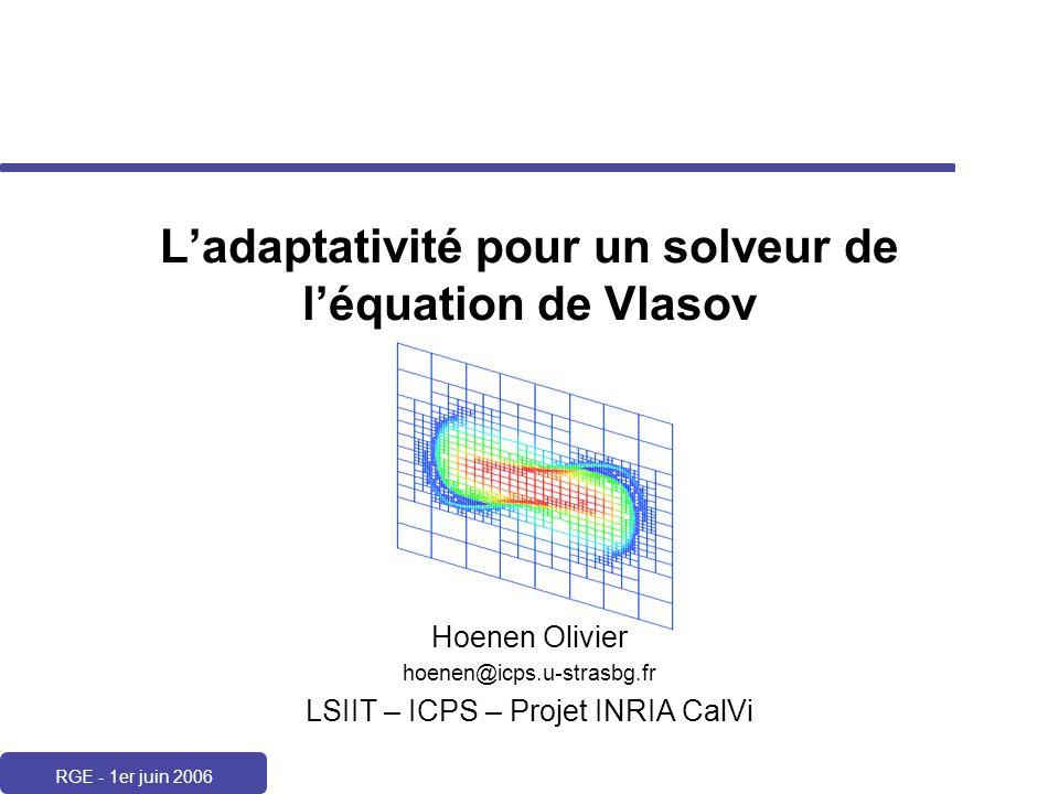 L'adaptativité pour un solveur de l'équation de Vlasov