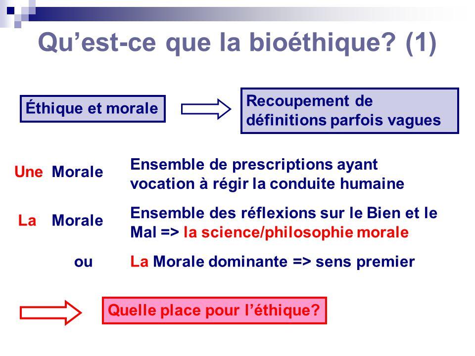 Qu'est-ce que la bioéthique (1)