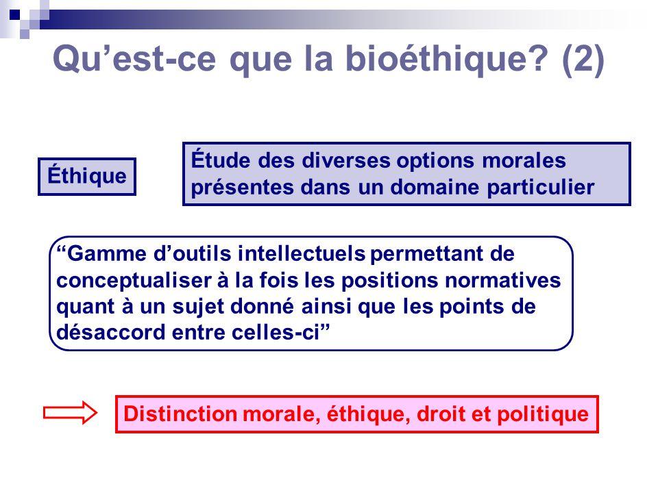 Qu'est-ce que la bioéthique (2)
