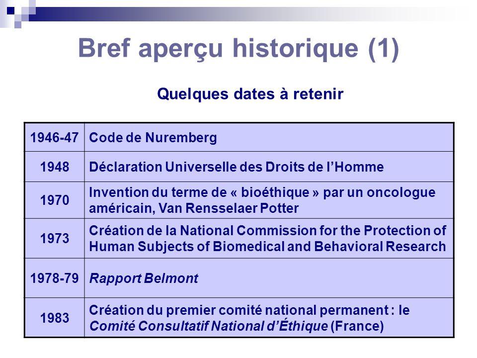 Bref aperçu historique (1)