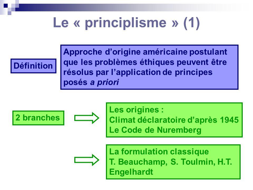 Le « principlisme » (1)