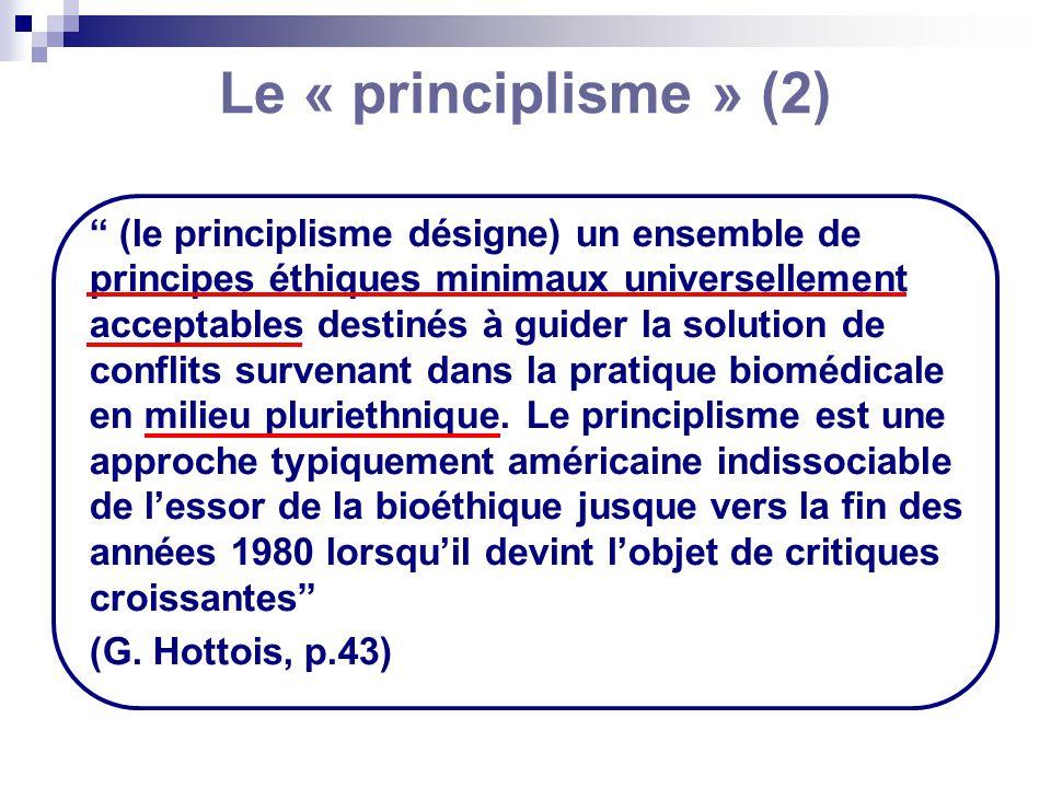 Le « principlisme » (2)