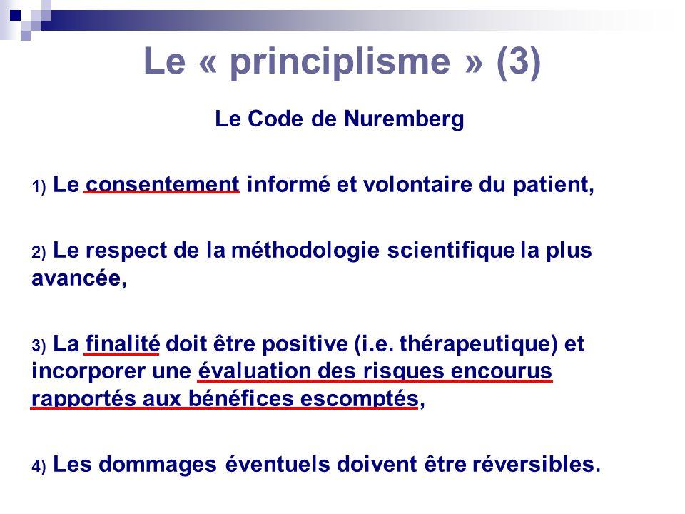 Le « principlisme » (3) Le Code de Nuremberg