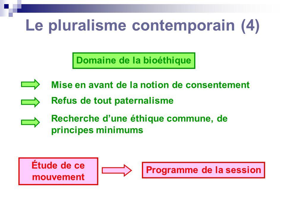 Le pluralisme contemporain (4)