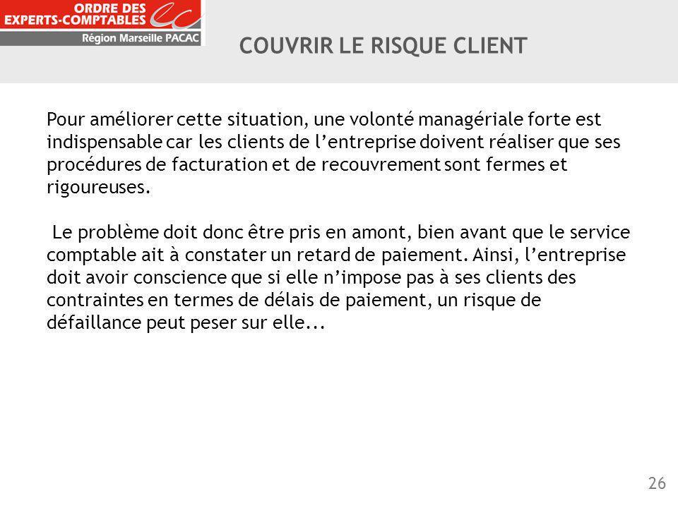 COUVRIR LE RISQUE CLIENT
