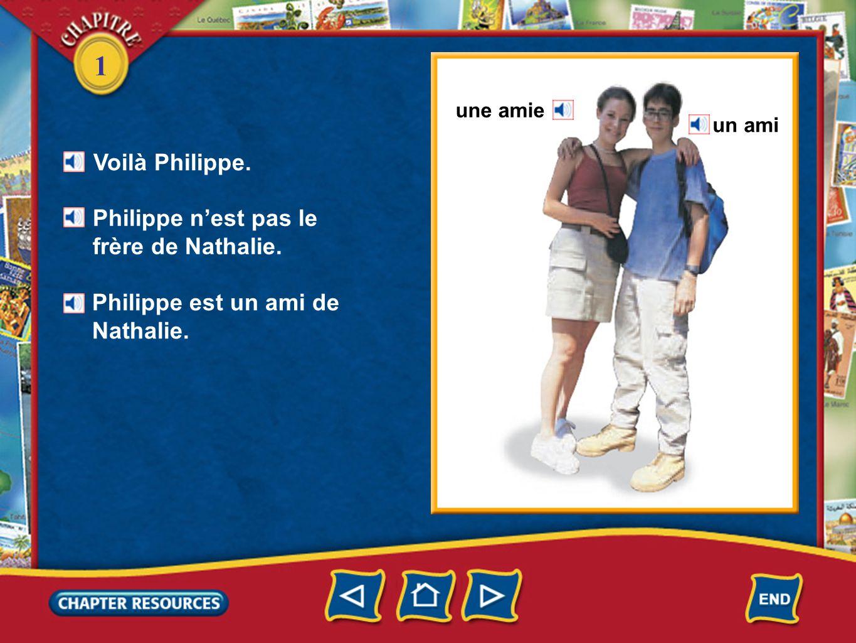 1 Voilà Philippe. Philippe n'est pas le frère de Nathalie.