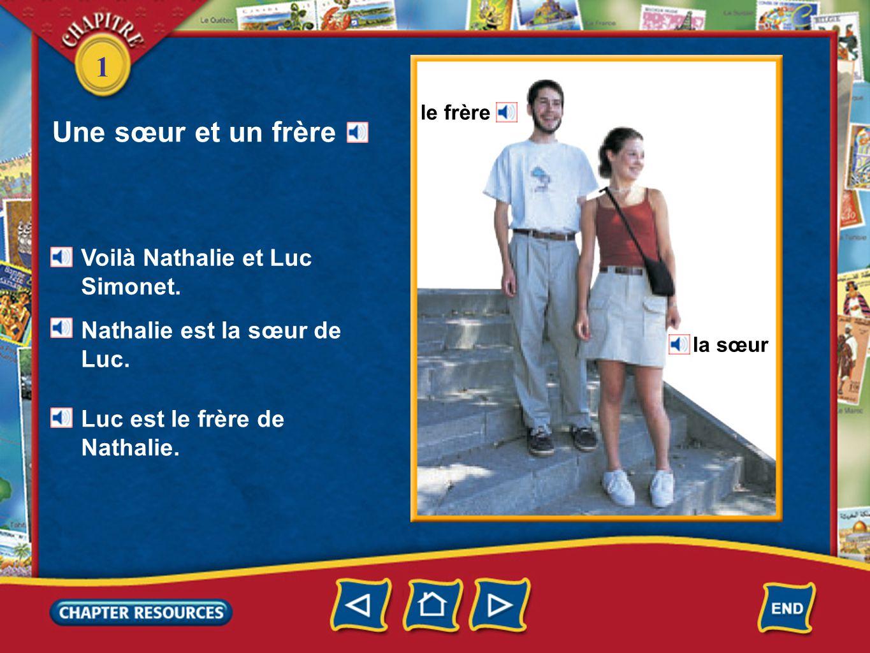 1 Une sœur et un frère Voilà Nathalie et Luc Simonet.
