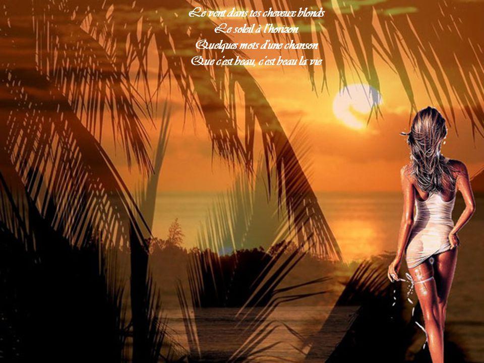 Le vent dans tes cheveux blonds Le soleil à l horizon