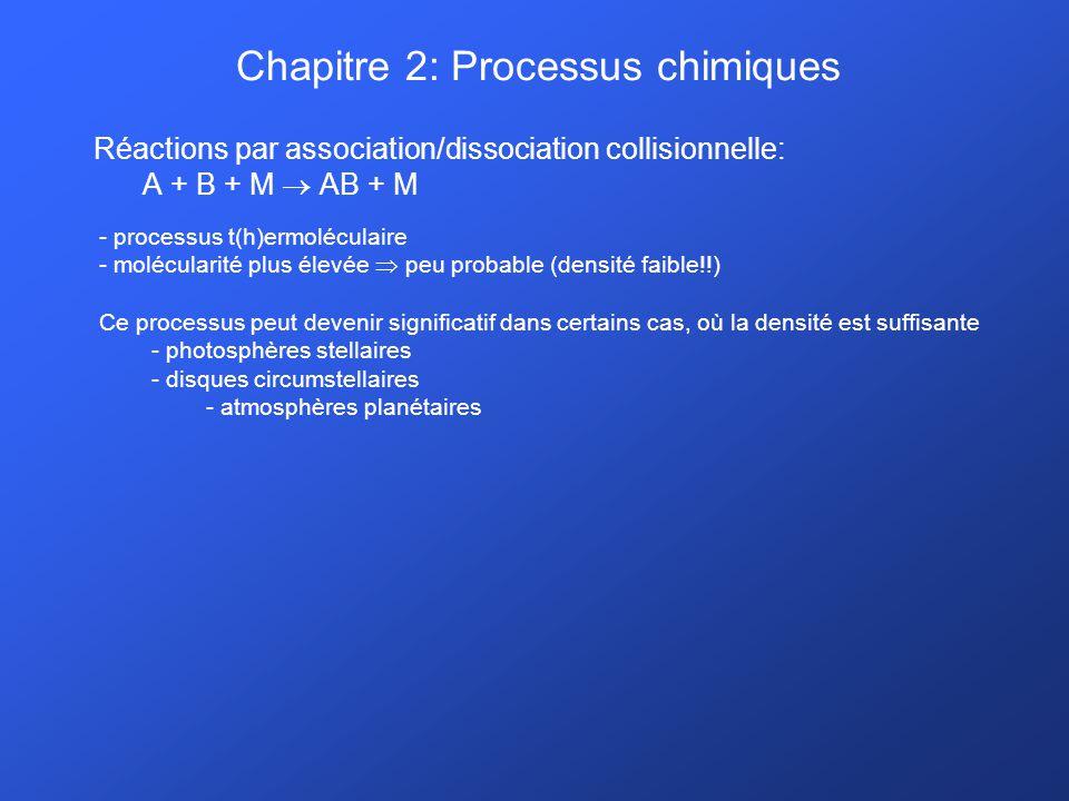 Chapitre 2: Processus chimiques