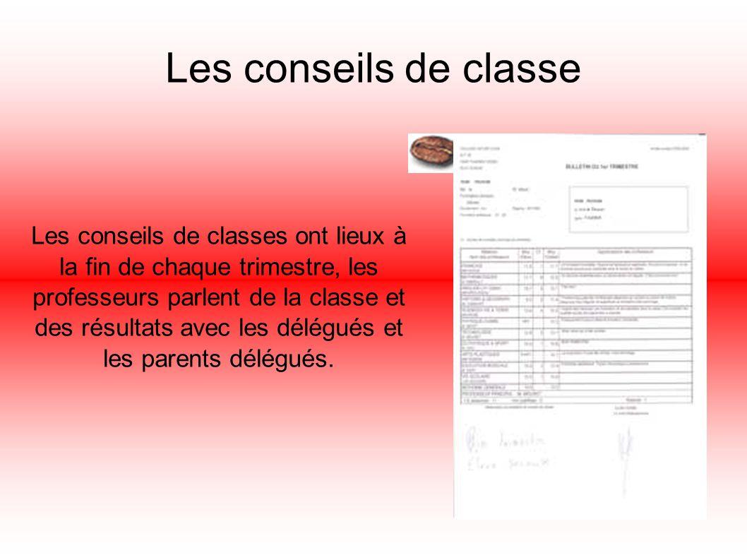 Les conseils de classe
