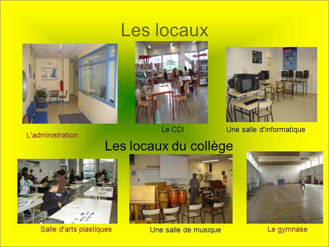 Les locaux Les locaux du collège Le CDI Une salle d informatique