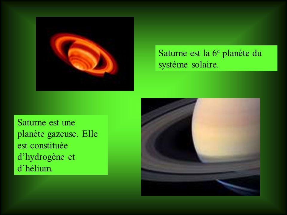 Saturne est la 6e planète du système solaire.