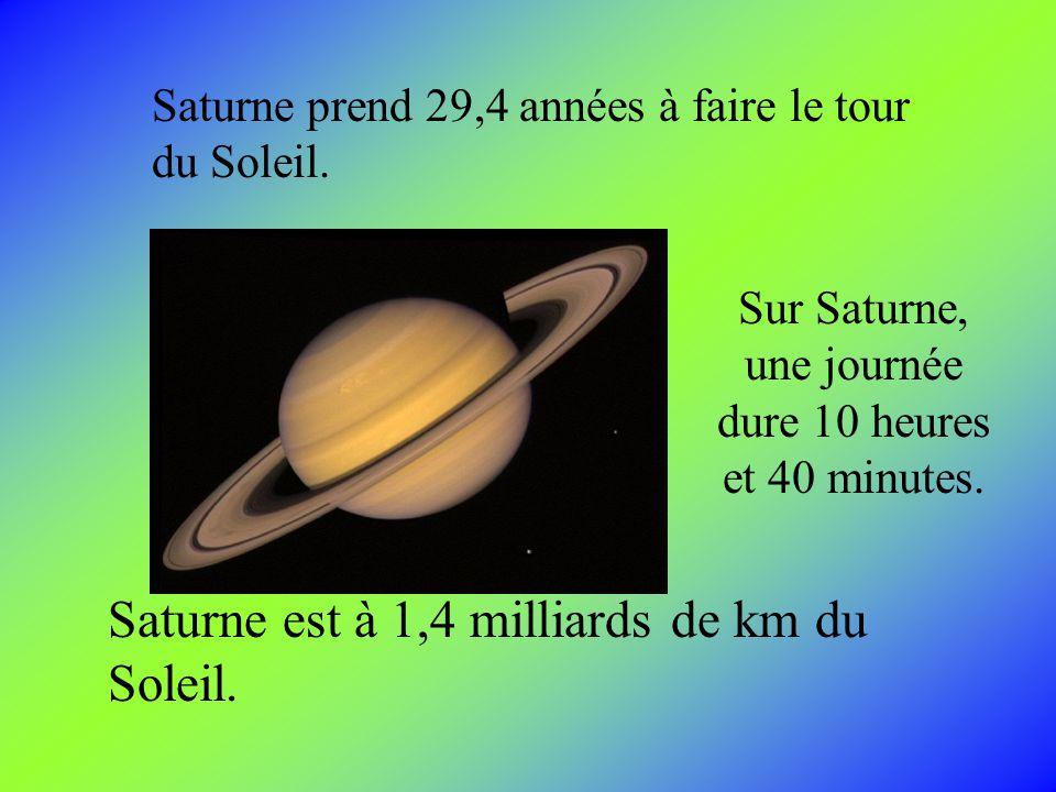 Sur Saturne, une journée dure 10 heures et 40 minutes.