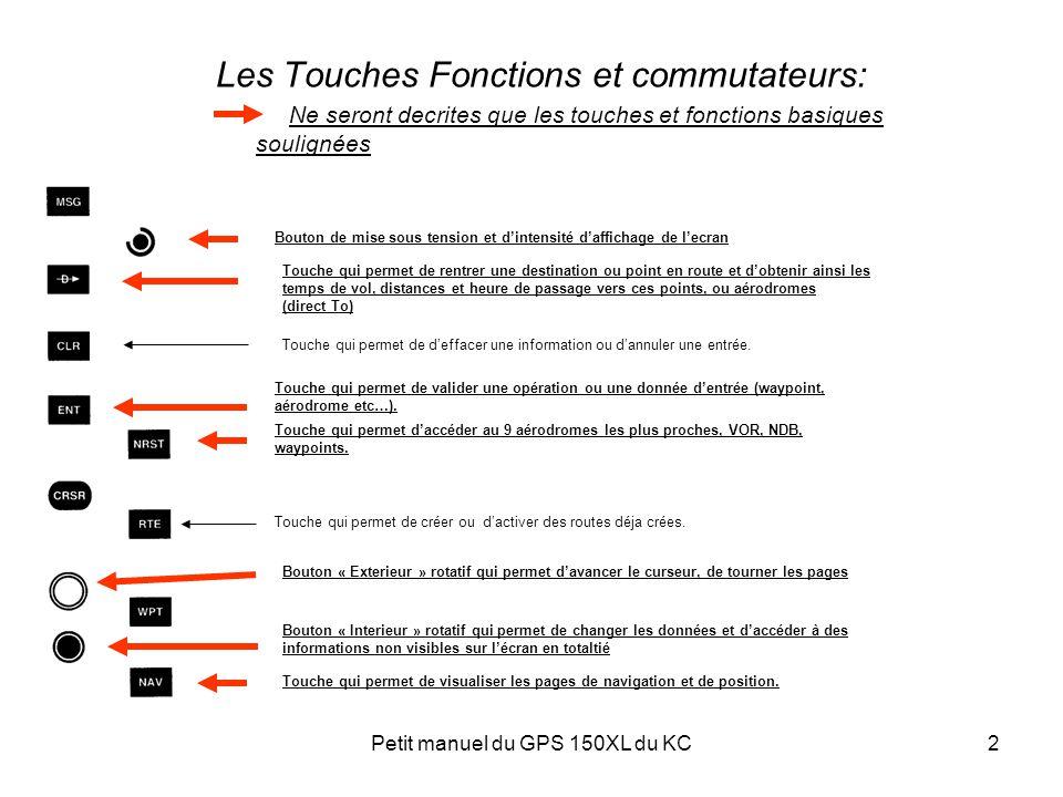 Petit manuel du GPS 150XL du KC