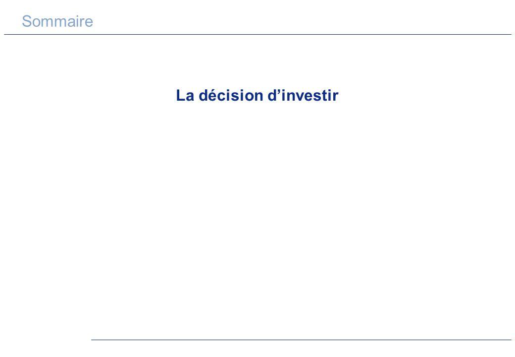 La décision d'investir
