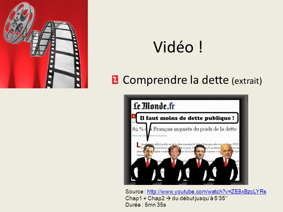 Vidéo ! Vidéo ! Comprendre la dette (extrait)