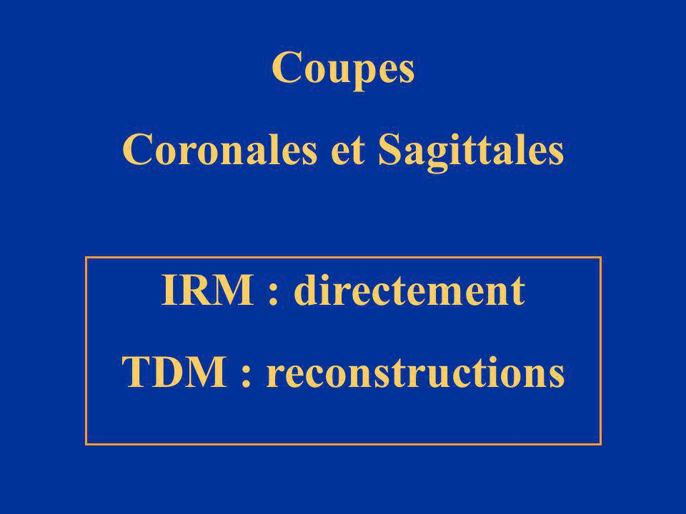 Coronales et Sagittales