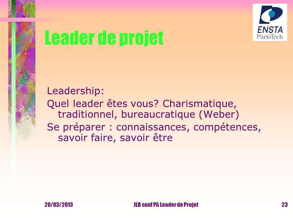 JLB conf PA Leader de Projet