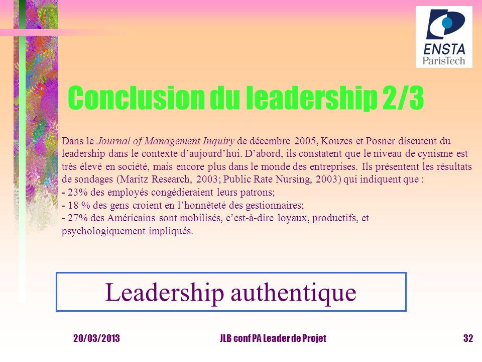 Conclusion du leadership 2/3